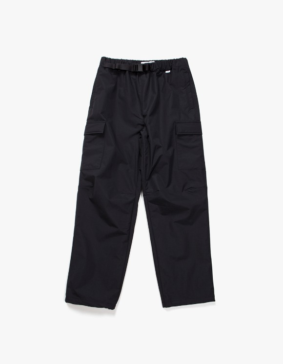 IZOLA NYC Belted Nylon Cargo Trouser - Black | HEIGHTS. | International Store