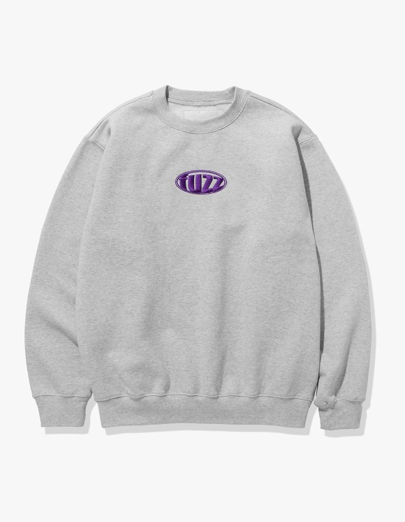 Fuzz FUZZ CIRCLE LOGO SWEATSHIRT melange gray | HEIGHTS. | International Store