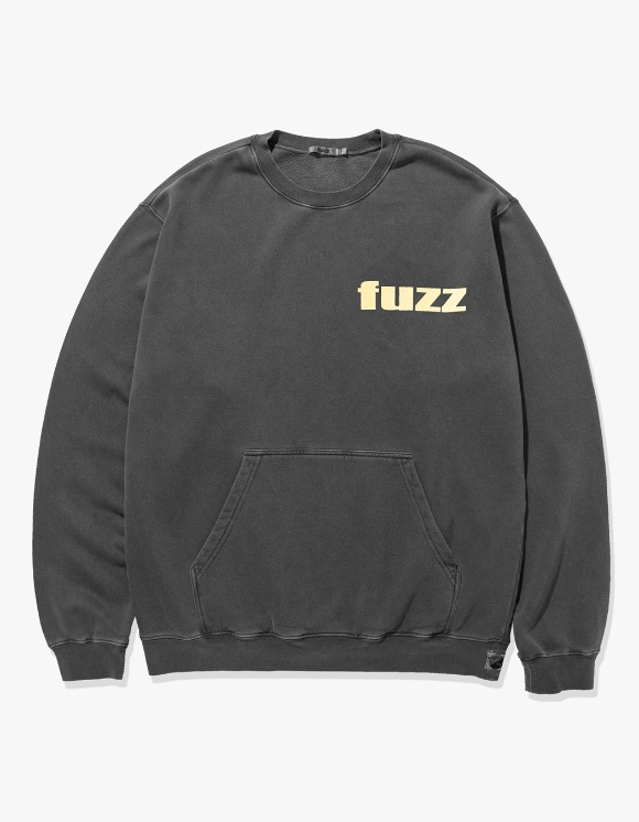 Fuzz FUZZ PIGMENT DYED POCKET SWEATSHIRT black | HEIGHTS. | International Store