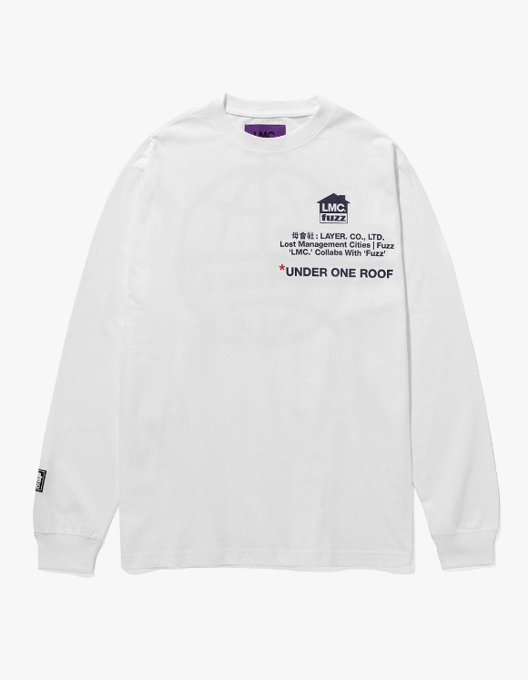 LMC LMC x FUZZ HOUSE LONG SLV TEE white | HEIGHTS. | International Store