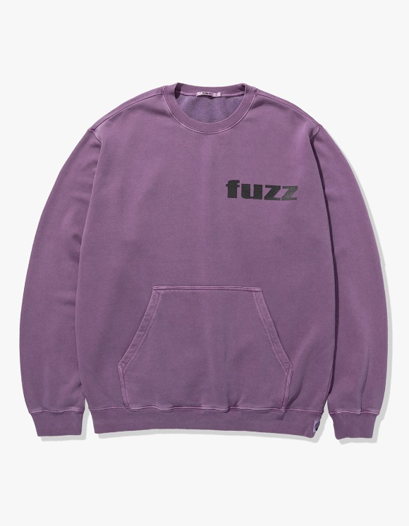 Fuzz FUZZ PIGMENT DYED POCKET SWEATSHIRT purple | HEIGHTS. | International Store