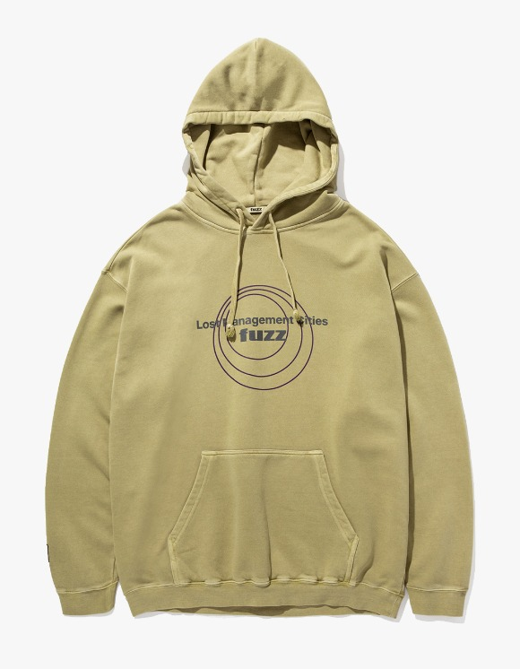 LMC LMC x FUZZ CIRCLE HOODIE olive | HEIGHTS. | International Store