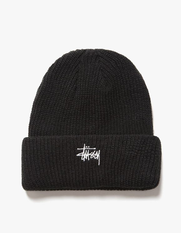 Stussy FA19 Basic Cuff Beanie - Black | HEIGHTS. | International Store