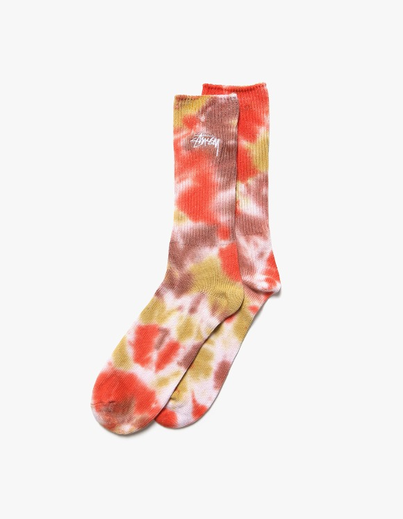 Stussy Tie Dye Socks - Orange | HEIGHTS. | International Store