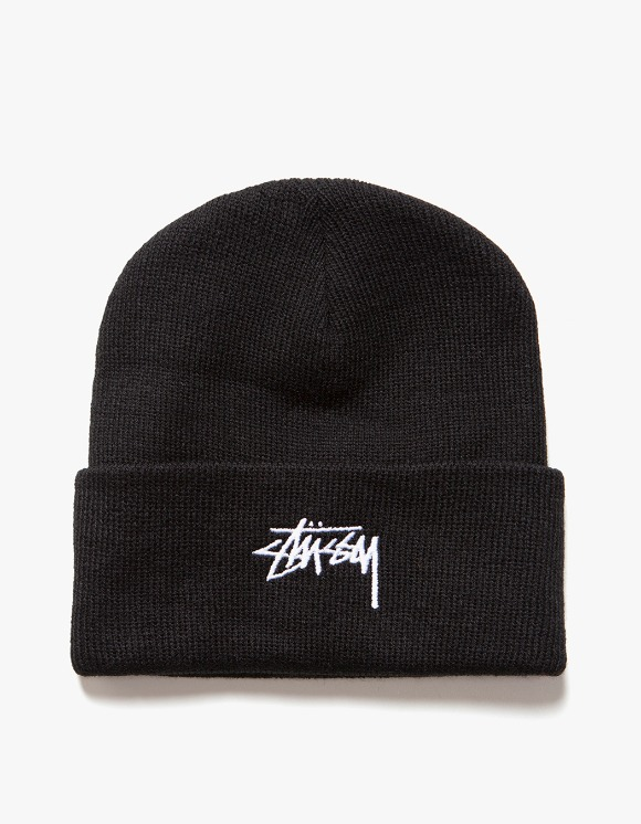 Stussy FA19 Stock Cuff Beanie - Black | HEIGHTS. | International Store