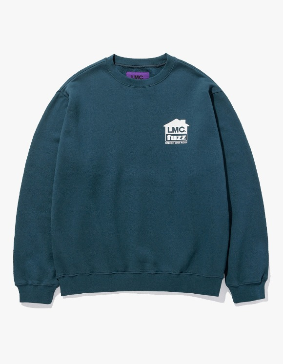 LMC LMC x FUZZ HOUSE SWEATSHIRT teal green | HEIGHTS. | International Store