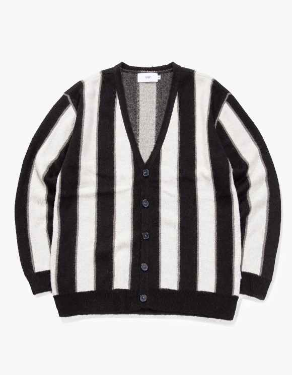 IZOLA NYC Striped Mohair Cardigan - Ivory | HEIGHTS. | International Store