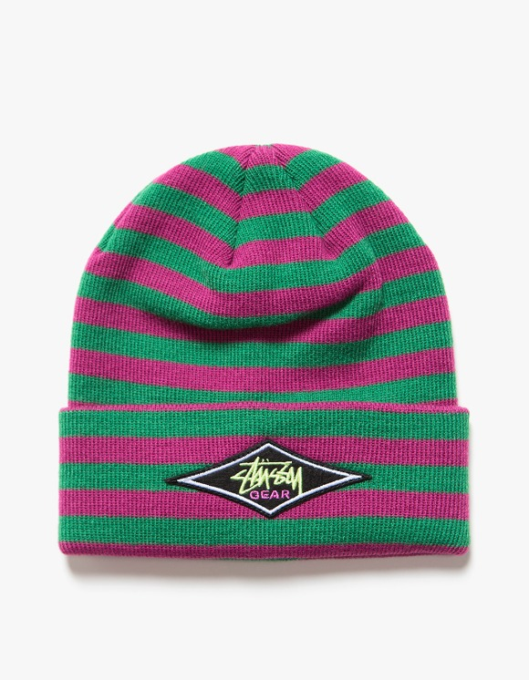 Stussy Marta Striped Beanie - Magenta | HEIGHTS. | International Store