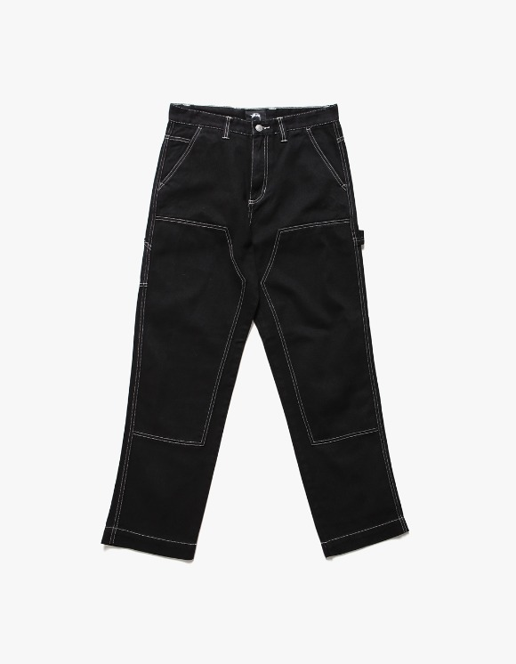 Stussy Over Dyed Work Pant - Black | HEIGHTS. | International Store
