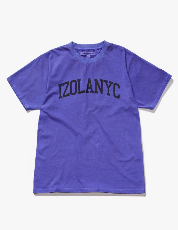 IZOLA NYC Over Dyed College S/S Tee - Purple | HEIGHTS. | International Store