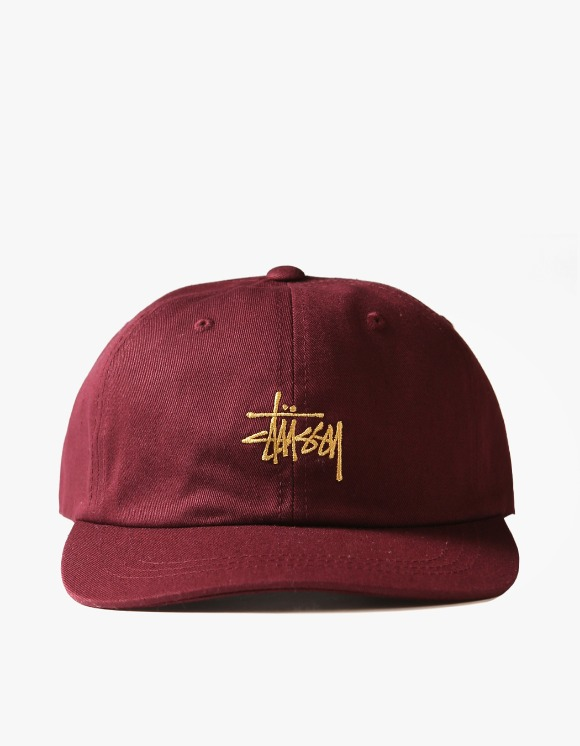 Stussy FA19 Stock Low Pro Cap - Burgundy | HEIGHTS. | International Store