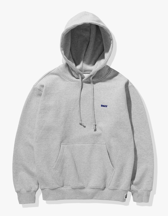 Fuzz FUZZ BASIC LOGO HOODIE melange gray | HEIGHTS. | International Store