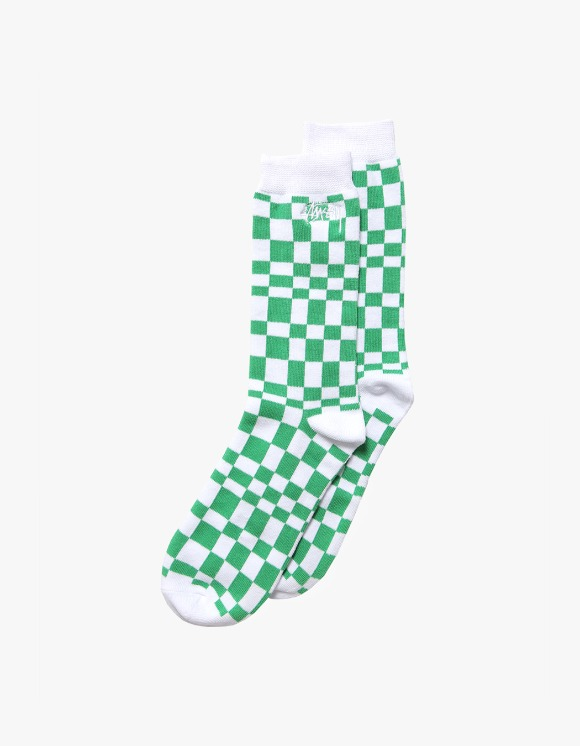 Stussy Sabi Checker Jacquard Socks - Green | HEIGHTS. | International Store