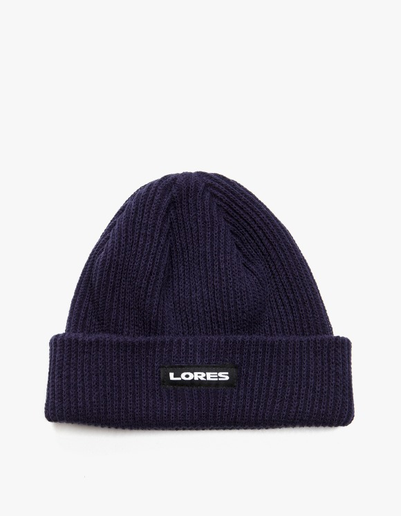 LORES Logo Ribbed Beanie - Navy | HEIGHTS. | International Store