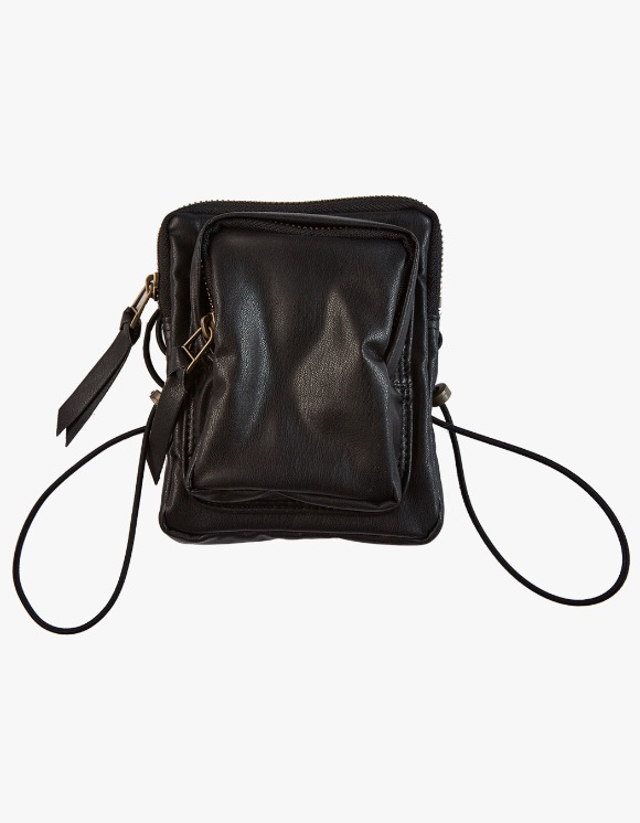 KIJUN Pleather Mini Bag - Black | HEIGHTS. | International Store