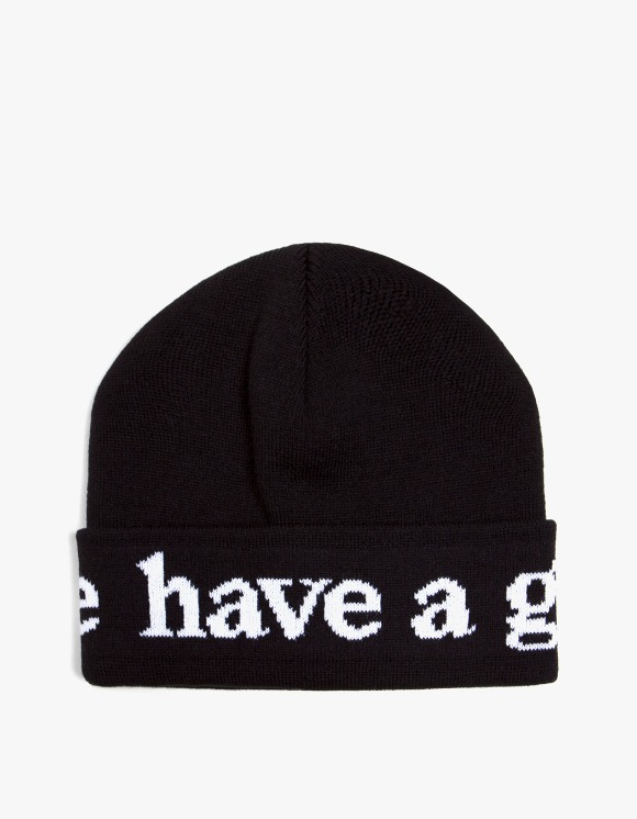 have a good time Side Logo Beanie - Black | HEIGHTS. | International Store
