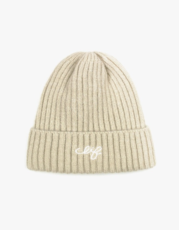 CLIF Logo Wool Beanie - Beige | HEIGHTS. | International Store