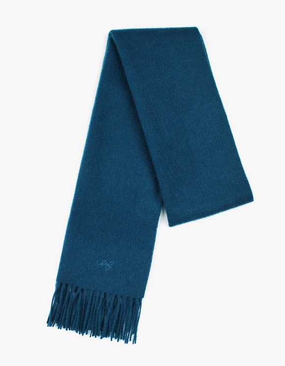 CLIF Solid Wool Muffler - Blue Green | HEIGHTS. | International Store