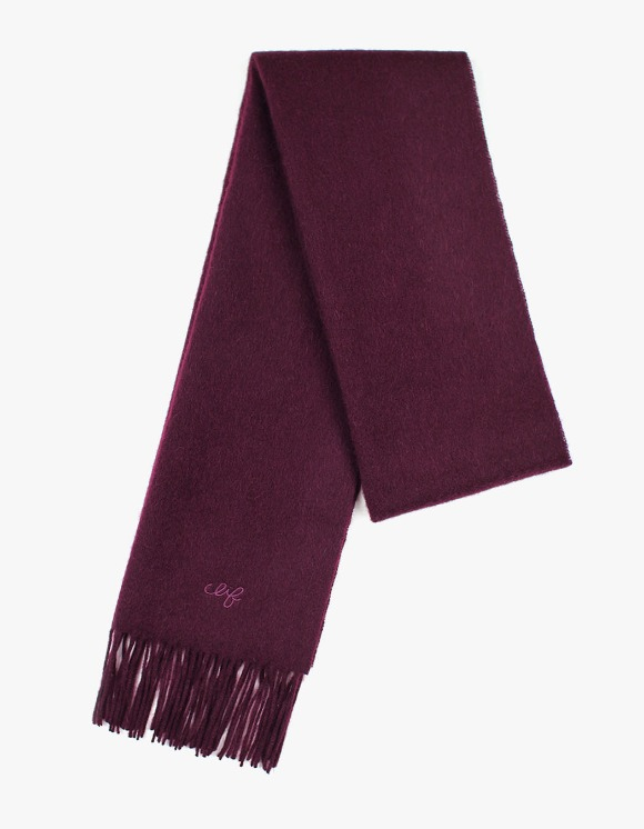 CLIF Solid Wool Muffler - Burgundy | HEIGHTS. | International Store