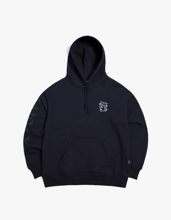 Victoria Hong Kong Queen Head Tonal Logo Hoodie - Navy | HEIGHTS. | International Store