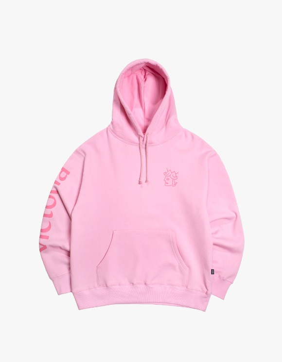 Victoria Hong Kong Queen Head Tonal Logo Hoodie - Pink | HEIGHTS. | International Store