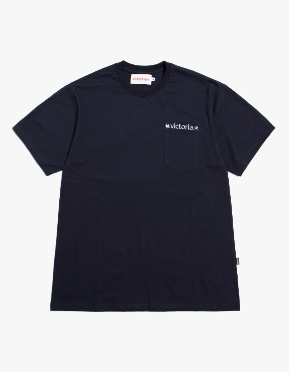 Victoria Hong Kong Linguistics S/S Pocket Tee - Navy | HEIGHTS. | International Store