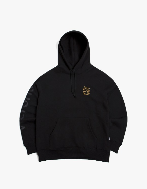 Victoria Hong Kong Queen Head Tonal Logo Hoodie - Black | HEIGHTS. | International Store
