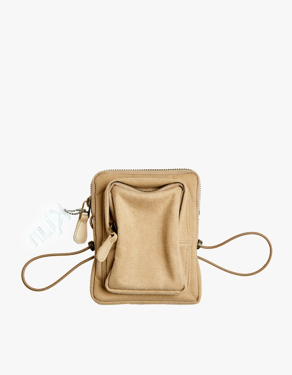 KIJUN Suede Mini Bag - Beige | HEIGHTS. | International Store