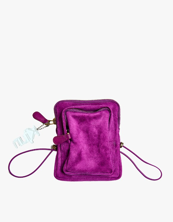 KIJUN Suede Mini Bag - Plum | HEIGHTS. | International Store