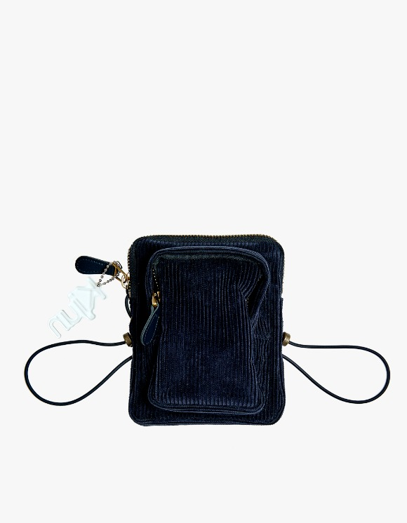 KIJUN Corduroy Mini Bag - Navy | HEIGHTS. | International Store