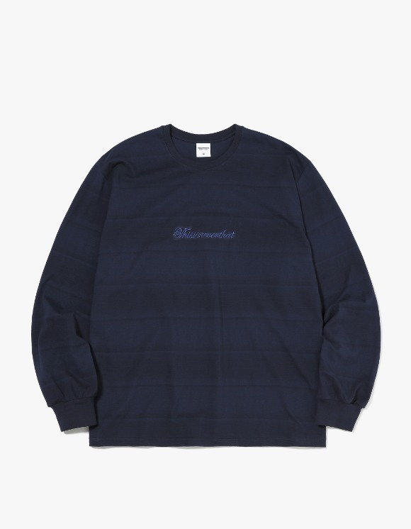 thisisneverthat Script Striped L/SL Top - Navy | HEIGHTS. | International Store
