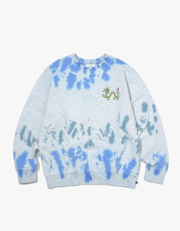 thisisneverthat Tiedye DRAGON Crewneck - Blue/Green | HEIGHTS. | International Store
