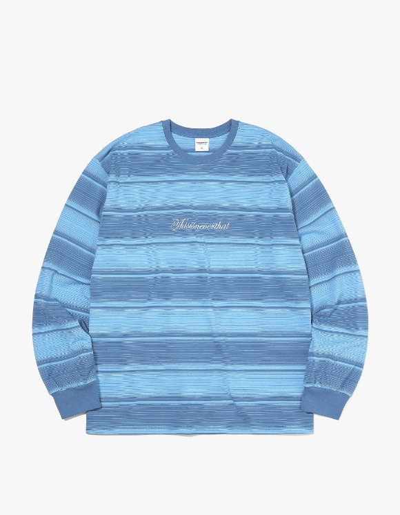 thisisneverthat Script Striped L/SL Top - Sky Blue | HEIGHTS. | International Store