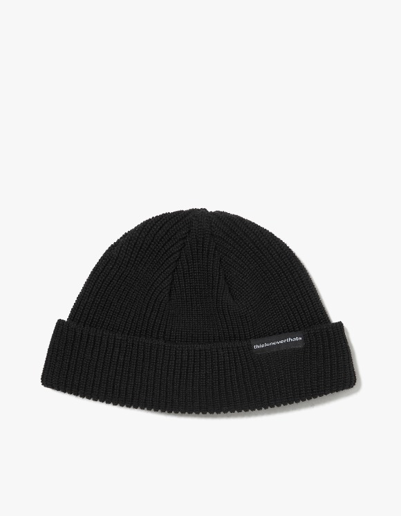 thisisneverthat SP-Logo Short Beanie - Black | HEIGHTS. | International Store