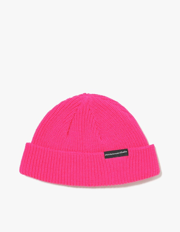 thisisneverthat SP-Logo Short Beanie - Pink | HEIGHTS. | International Store