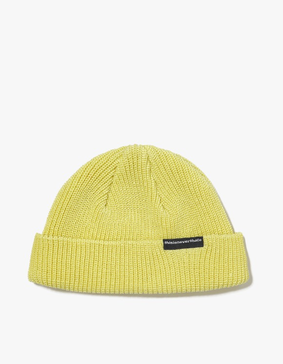 thisisneverthat SP-Logo Short Beanie - Light Yellow | HEIGHTS. | International Store