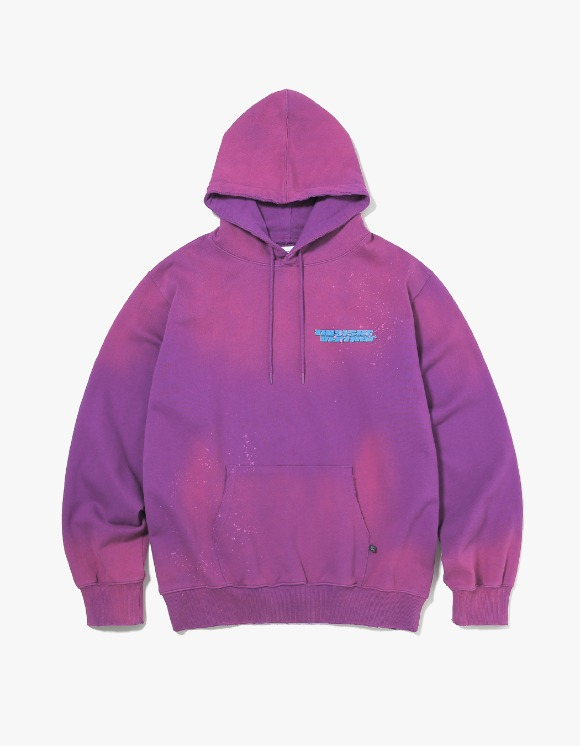 thisisneverthat Damaged Hooded Sweatshirt - Purple | HEIGHTS. | International Store