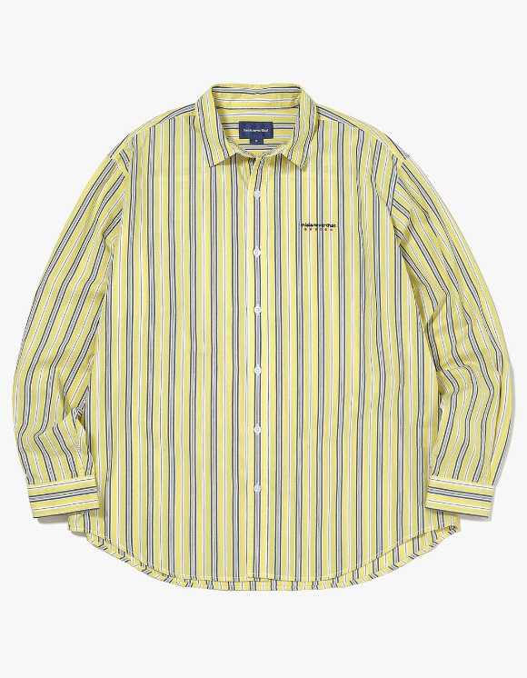 thisisneverthat DSN-Logo Striped Shirt - Yellow | HEIGHTS. | International Store