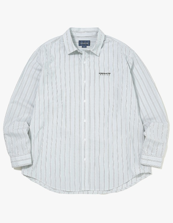 thisisneverthat DSN-Logo Striped Shirt - Grey | HEIGHTS. | International Store