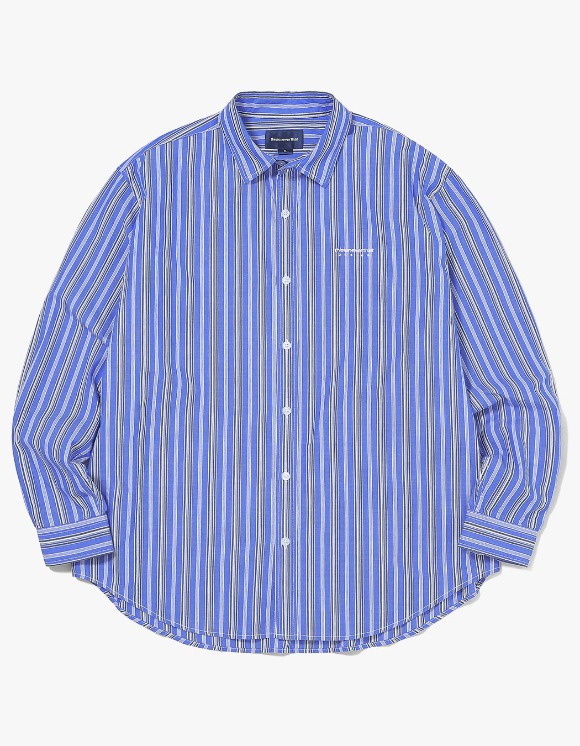 thisisneverthat DSN-Logo Striped Shirt - Blue | HEIGHTS. | International Store