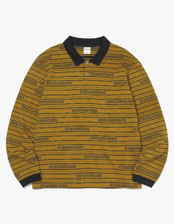 thisisneverthat Jacquard L/SL Jersey Polo - Mustard | HEIGHTS. | International Store