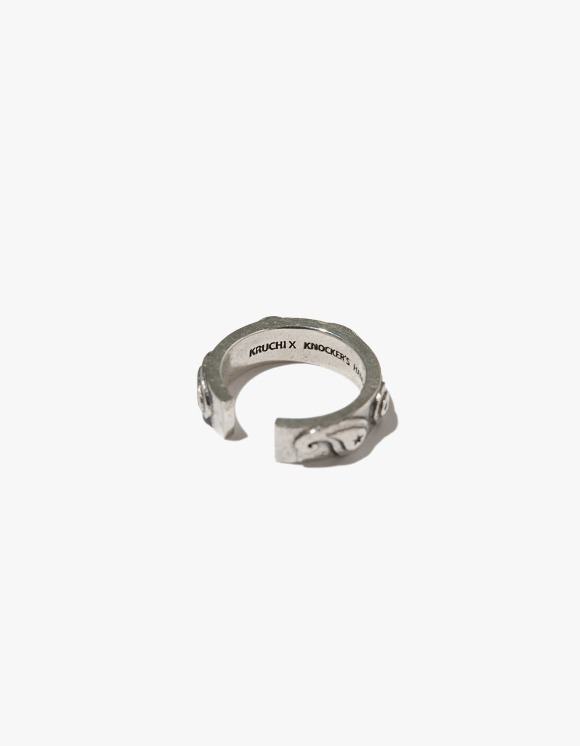 Kruchi lab Paisley Tension Ring - Silver | HEIGHTS. | International Store