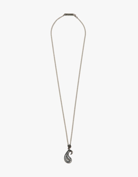 Kruchi lab Paisley Texture Necklace - Silver, Diamond | HEIGHTS. | International Store