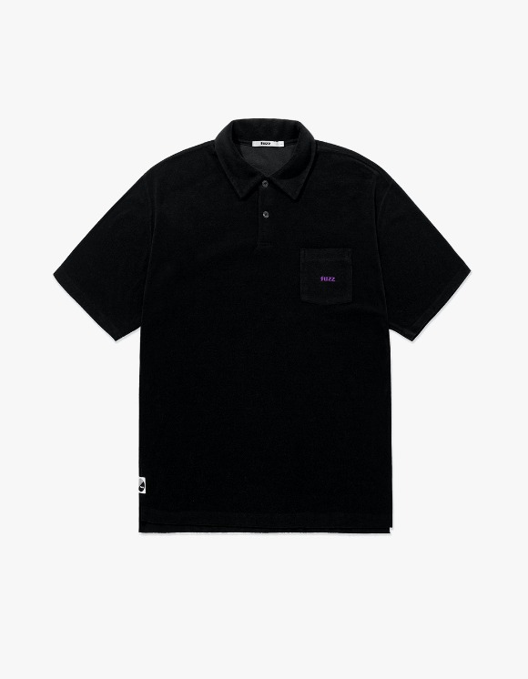 Fuzz FUZZ TERRY POLO SHIRT black | HEIGHTS. | International Store