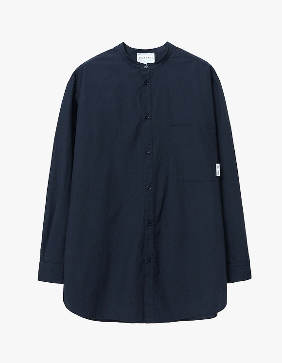 AECA WHITE Relaxed Long Shirt - Navy | HEIGHTS. | International Store