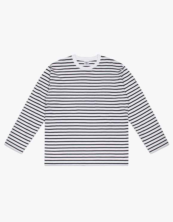 CLIF 20s Stripe Long Sleeve Tee - White/Black | HEIGHTS. | International Store