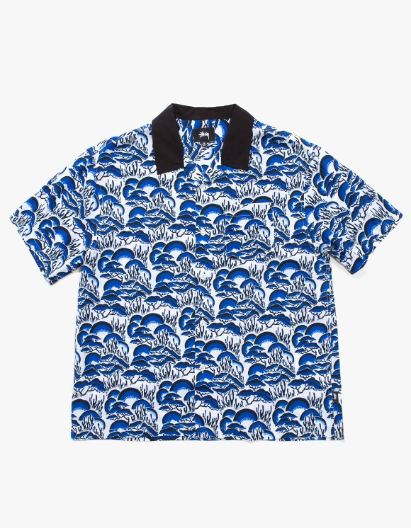 Stussy Coral Pattern Shirt - Blue | HEIGHTS. | International Store