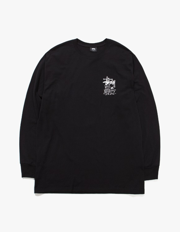 Stussy Big & Mealy L/S Tee - Black | HEIGHTS. | International Store