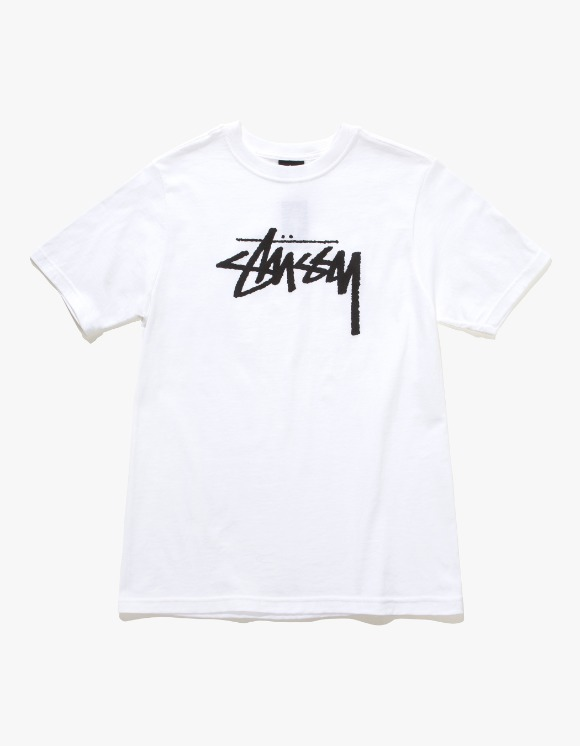 Stussy Wmns Stock Tee - White | HEIGHTS. | International Store