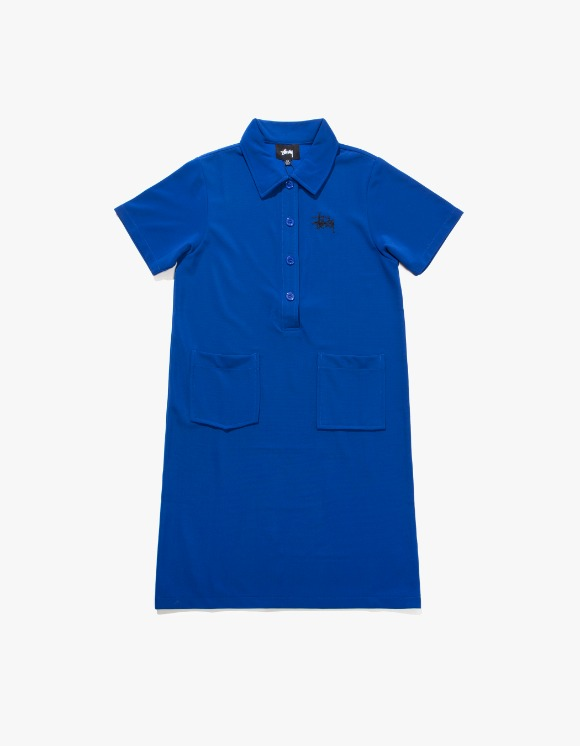 Stussy Poly Knit Dress - Blue | HEIGHTS. | International Store